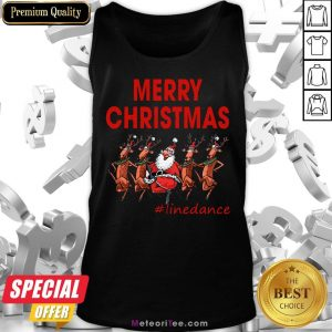 Awesome Santa Clau Merry Christmas Line Dancing Tank Top