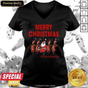 Awesome Santa Clau Merry Christmas Line Dancing V-neck