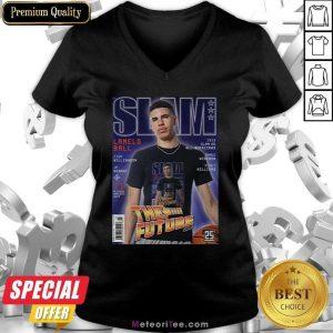SLAM Cover Tee – LaMelo Ball V-neck- Design By Meteoritee.com