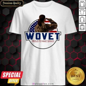 American Flag Wovet Proud To Have Served Shirt - Design By Meteoritee.com