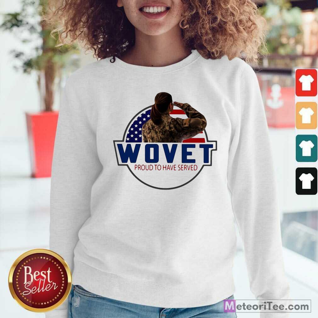American Flag Wovet Proud To Have Served  Sweatshirt - Design By Meteoritee.com