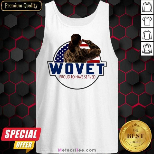 American Flag Wovet Proud To Have Served Tank Top - Design By Meteoritee.com