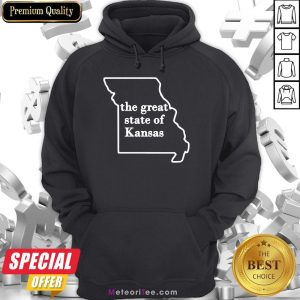 Official The Great State Of Kansas Missouri Hoodie