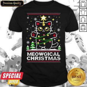 Premium Cat Meowgical Christmas Ugly Sweat Shirt