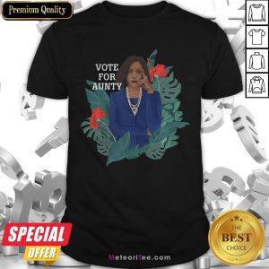 Premium Kamala Harris Vote For Aunty Flowers Shirt