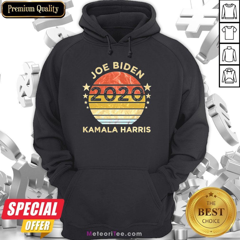 We Did It Joe Biden Kamala Harris Election 2020 46 President Vintage Retro Hoodie