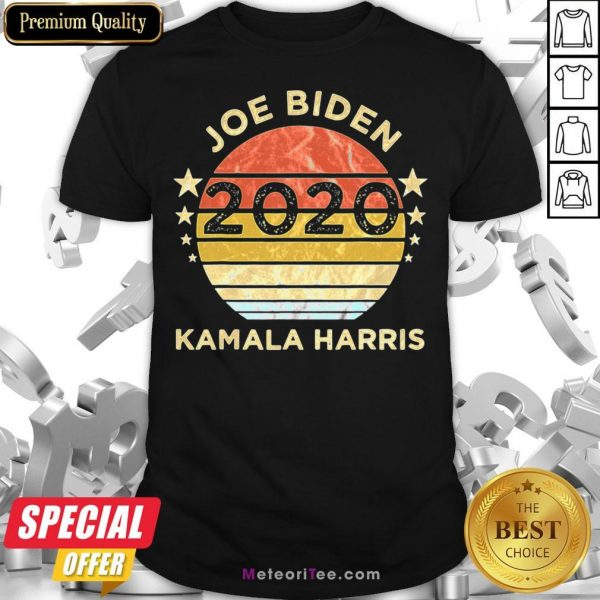 We Did It Joe Biden Kamala Harris Election 2020 46 President Vintage Retro Shirt