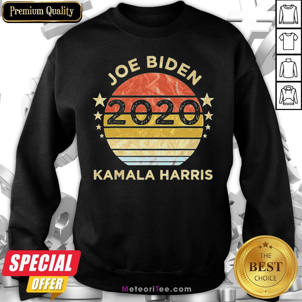 We Did It Joe Biden Kamala Harris Election 2020 46 President Vintage Retro Sweatshirt