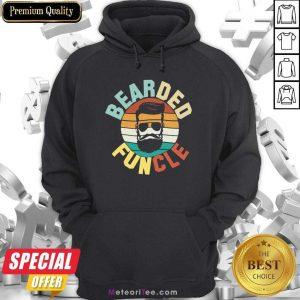 Bearded Funcle Vintage 2021 Hoodie - Design By Meteoritee.com