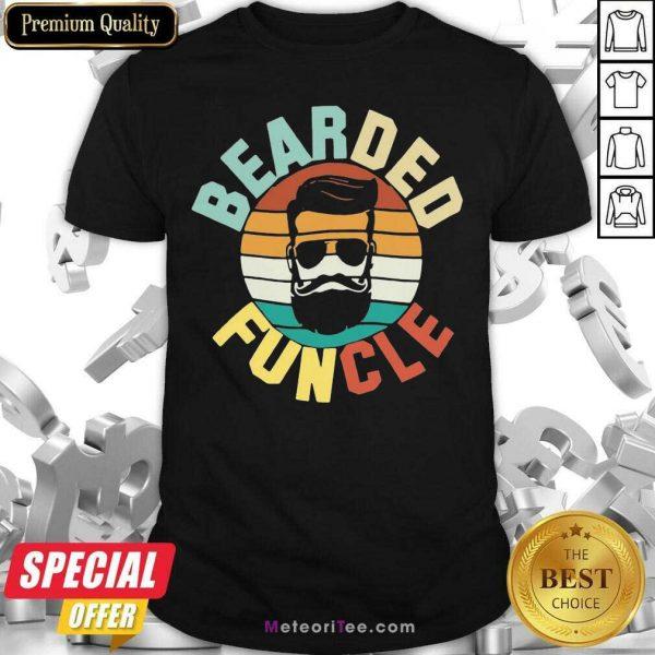 Bearded Funcle Vintage 2021 Shirt - Design By Meteoritee.com
