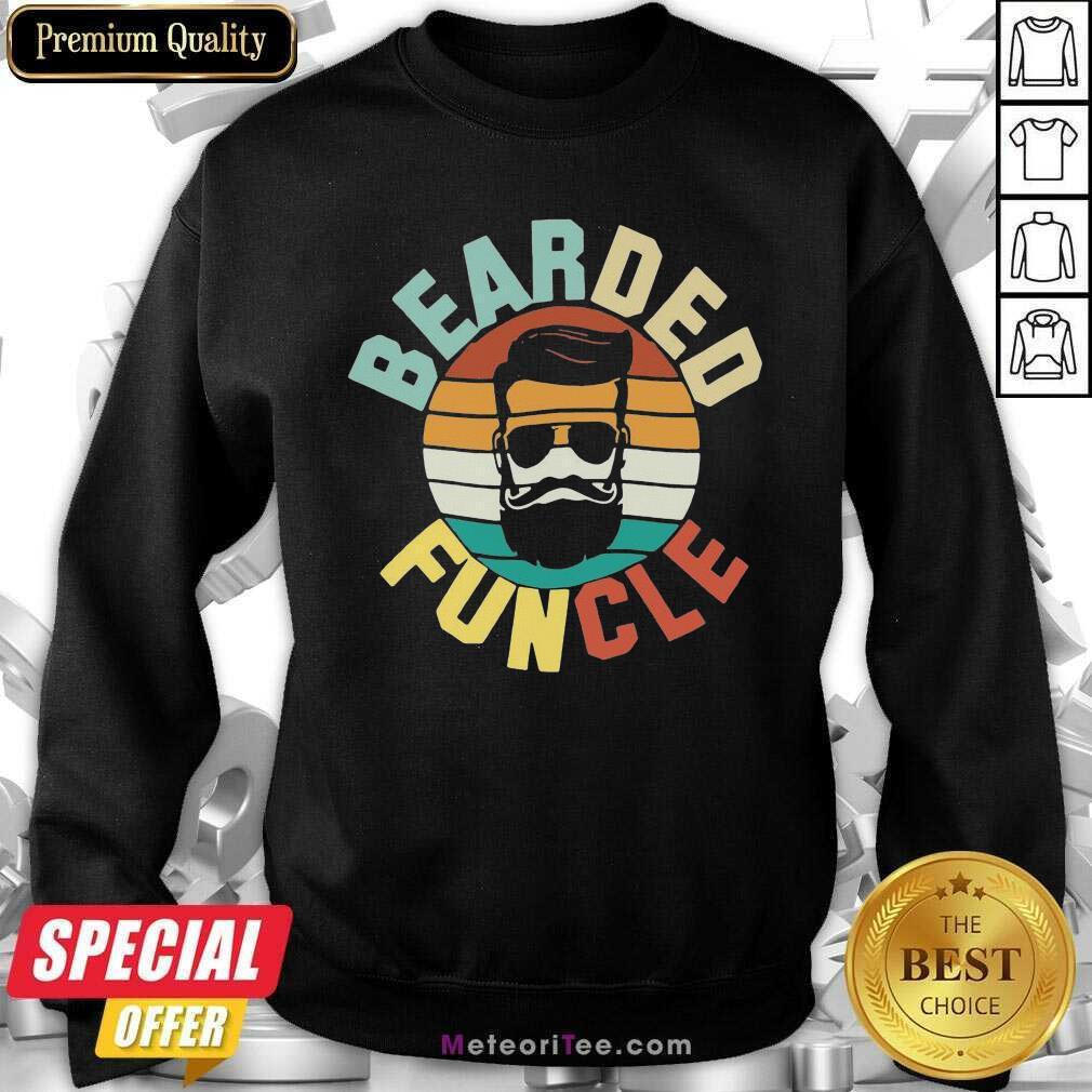 Bearded Funcle Vintage 2021 Sweatshirt - Design By Meteoritee.com