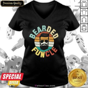 Bearded Funcle Vintage 2021 V-neck - Design By Meteoritee.com