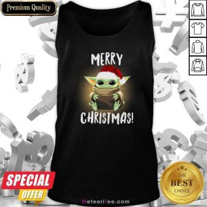 Santa Baby Yoda Merry Christmas Tank Top - Design By Meteoritee.com