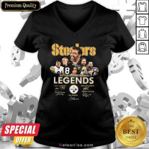 Steelers Pittsburgh Steelers Legends Signatures V-neck - Design By Meteoritee.com