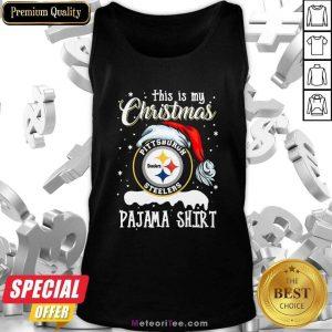 This Is My Christmas Pittsburgh Steelers Pajama Tank Top - Design By Meteoritee.com