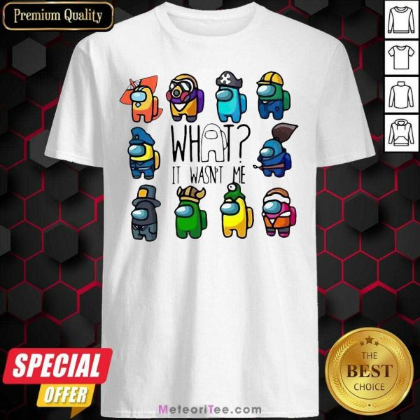 Ua Wildcats Forever Association Hat Black Shirt Hot Among Us What It Wasn't Me Shirt - Design By Meteoritee.com