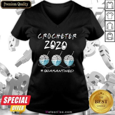 Crocheter 2020 Face Mask Quarantined V-neck - Design By Meteoritee.com