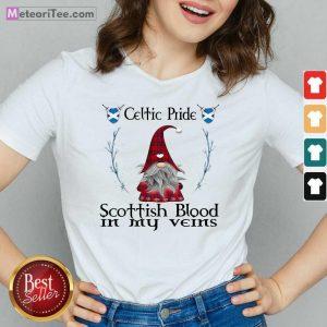 Gnomes Celtic Pride Scottish Blood In My Veins V-neck - Design By Meteoritee.com