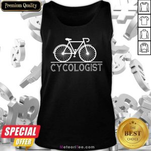 The Bicycle Cycologist Tank Top- Design By Meteoritee.com