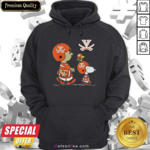 The Peanuts Charlie Brown And Snoopy Woodstock Virginia Cavaliers Football Hoodie - Design By Meteoritee.com