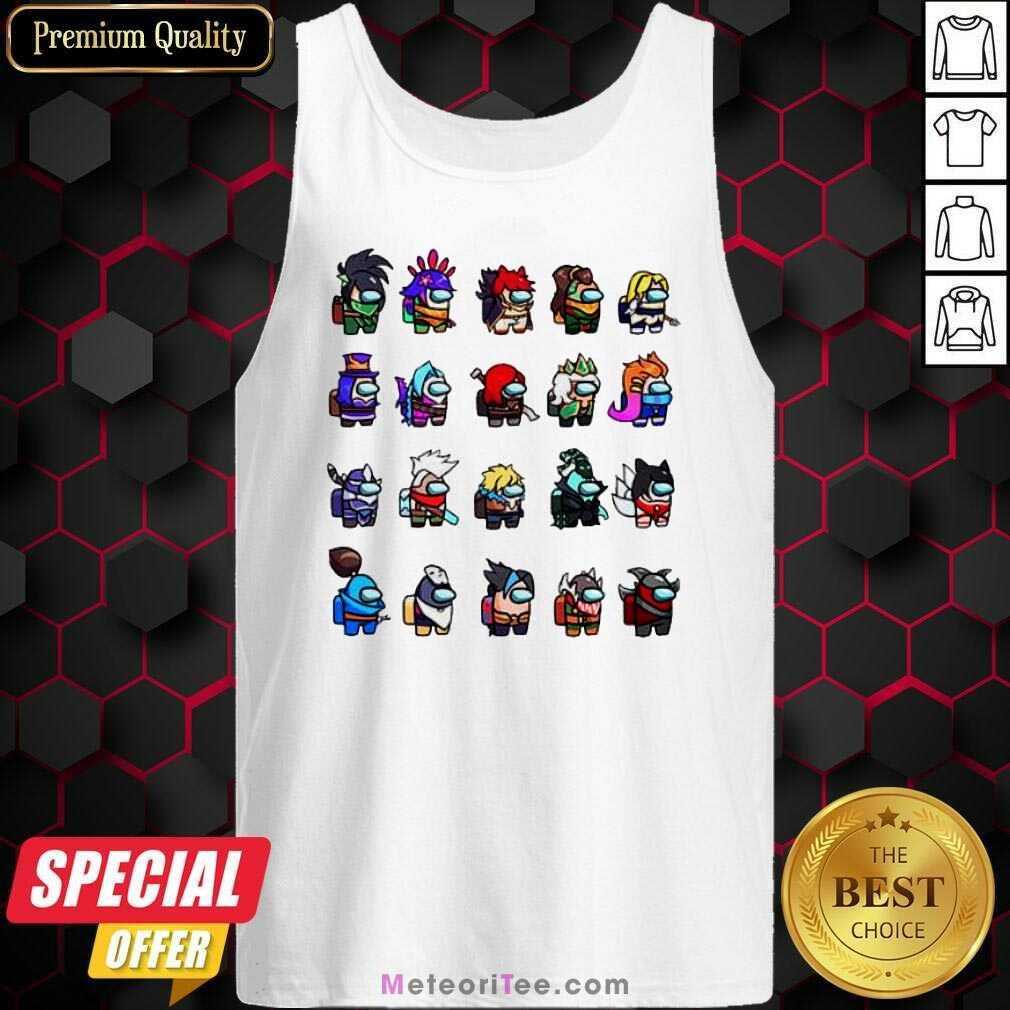 Among Us X League Of Legends Gams Tank Top - Design By Meteoritee.com