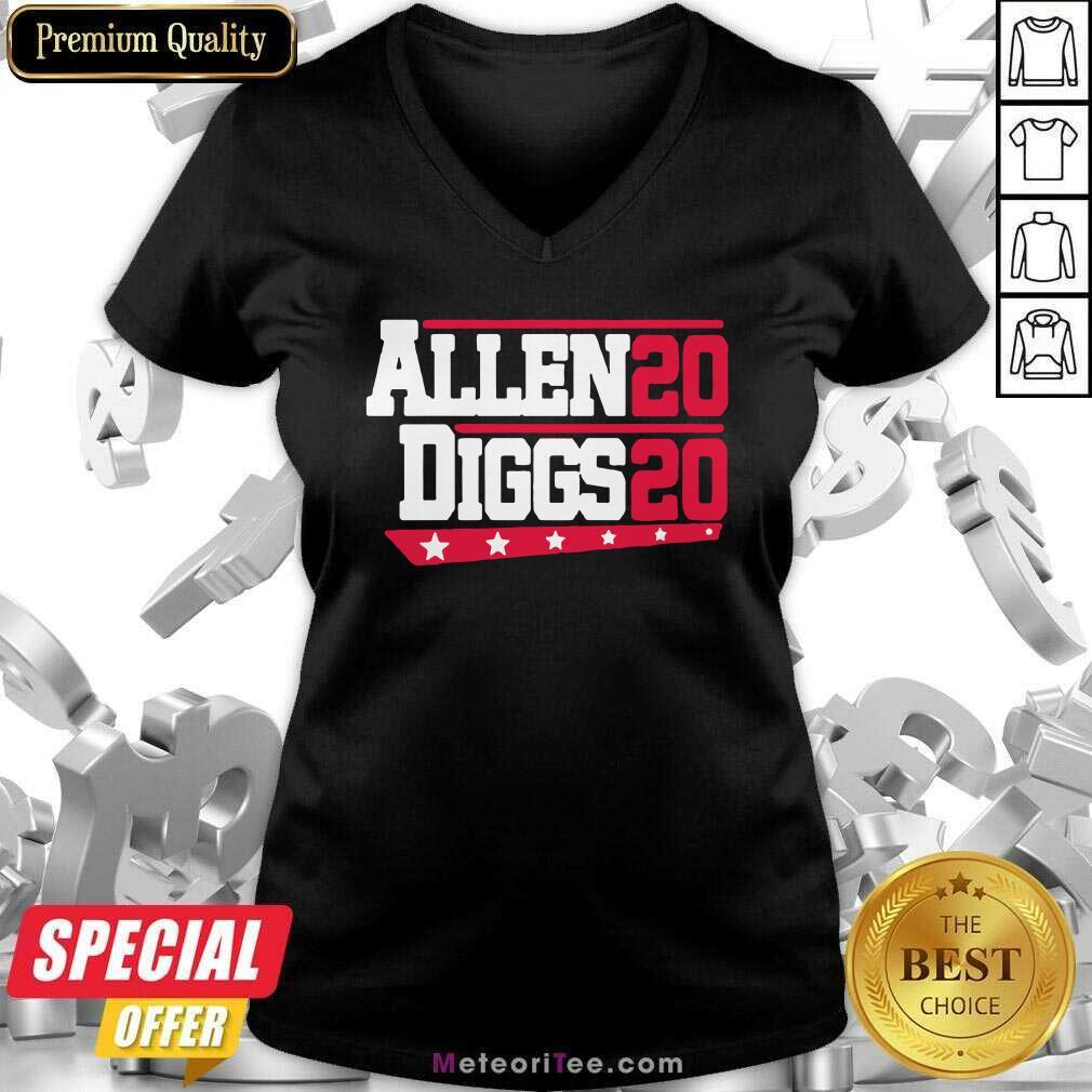 Buffalo Bills Allen Diggs 2020 V-neck - Design By Meteoritee.com