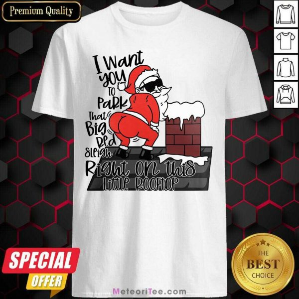Santa Claus I Want You To Park That Big Red And Light Right On This Rooftop Christmas Shirt - Design By Meteoritee.com