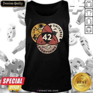 42 The Answer To Life Universe And Everything Tank Top - Design By Meteoritee.com