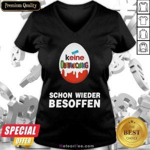 Keine Überraschung Schon Wieder Besoffen V-neck - Design By Meteoritee.com