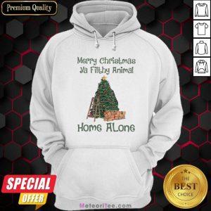 Merry Christmas Ya Filthy Animal Home Alone Christmas Tree Hoodie - Design By Meteoritee.com
