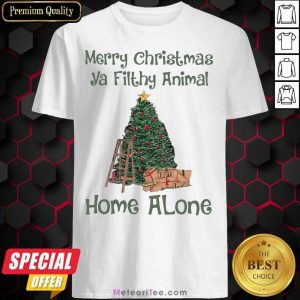 Merry Christmas Ya Filthy Animal Home Alone Christmas Tree Shirt - Design By Meteoritee.com