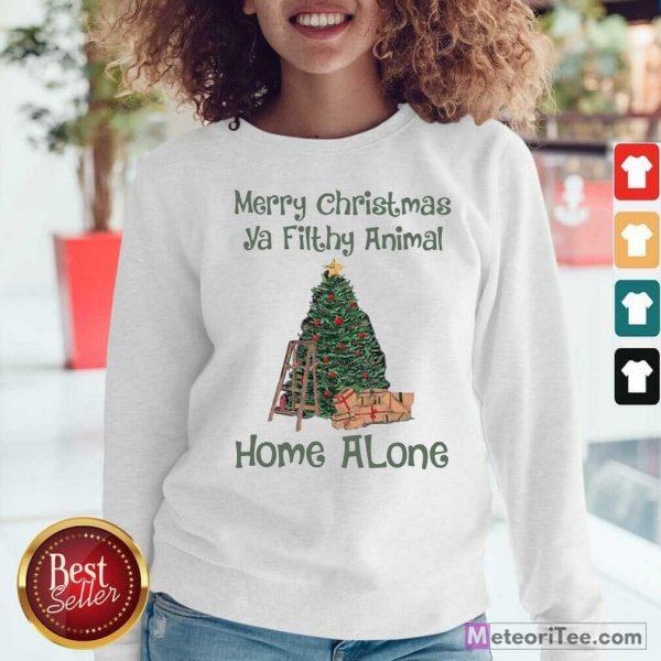 Merry Christmas Ya Filthy Animal Home Alone Christmas Tree Sweatshirt - Design By Meteoritee.com