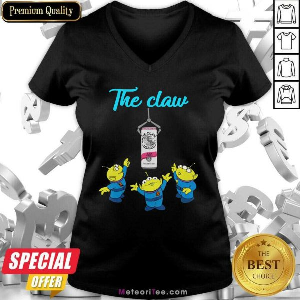 The Claw Merry Christmas Apparel Holiday V-neck- Design By Meteoritee.com