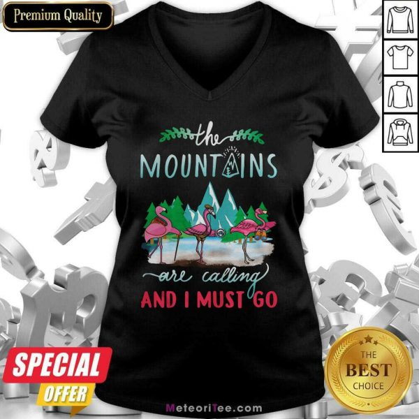 Crane The Mountains Are Calling And I Must Go V-neck- Design By Meteoritee.com