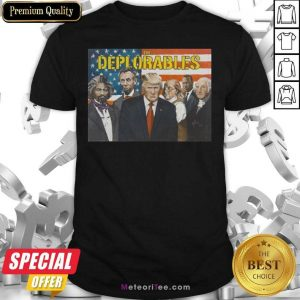 Donald Trump The Deplorables American Flag Shirt - Design By Meteoritee.com
