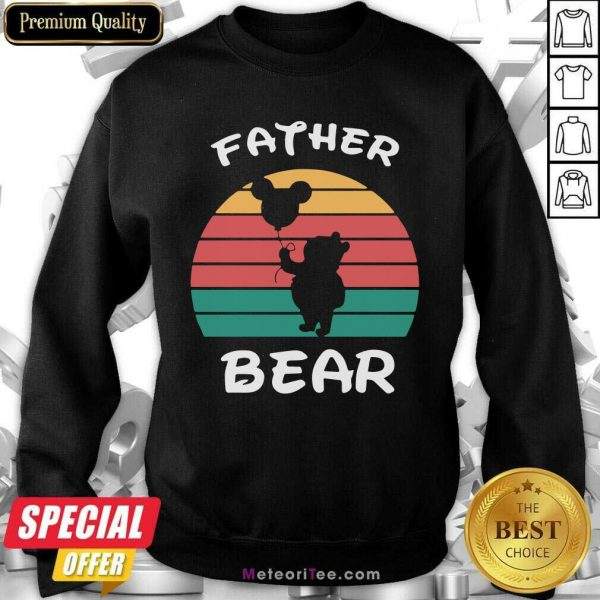 Father Bear Disney Vintage Retro Sweatshirt - Design By Meteoritee.com
