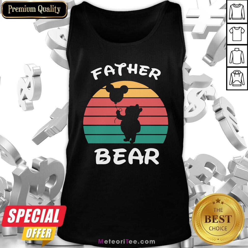 Father Bear Disney Vintage Retro Tank Top- Design By Meteoritee.com