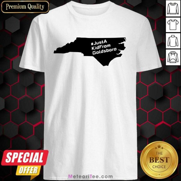 Just A Kid From Goldsboro Nc Map Shirt- Design By Meteoritee.com