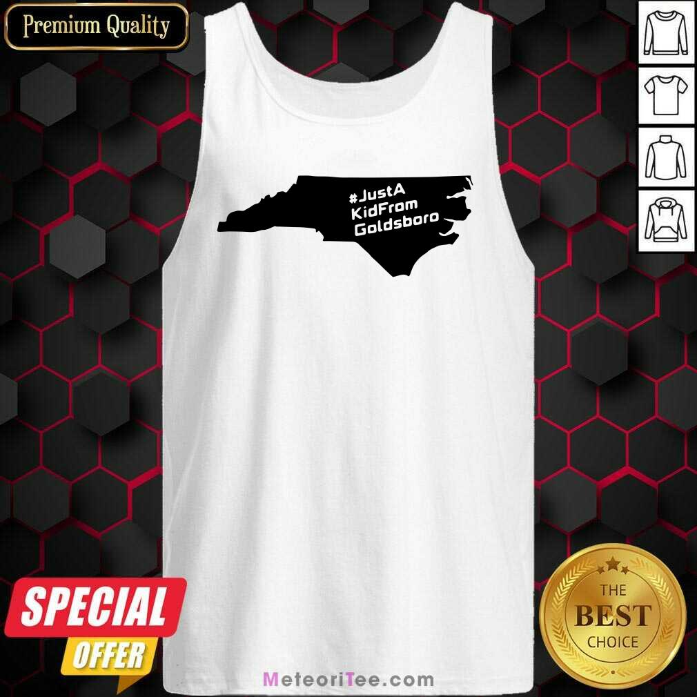 Just A Kid From Goldsboro Nc Map Tank Top - Design By Meteoritee.com