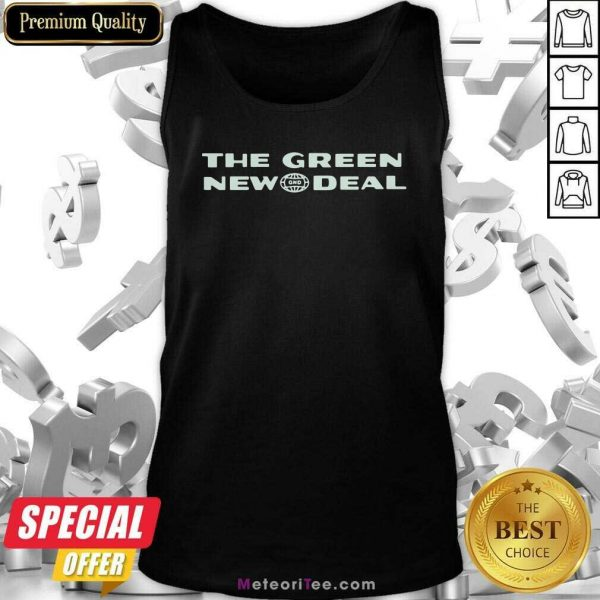 The Green New Deal Tank Top - Design By Meteoritee.com