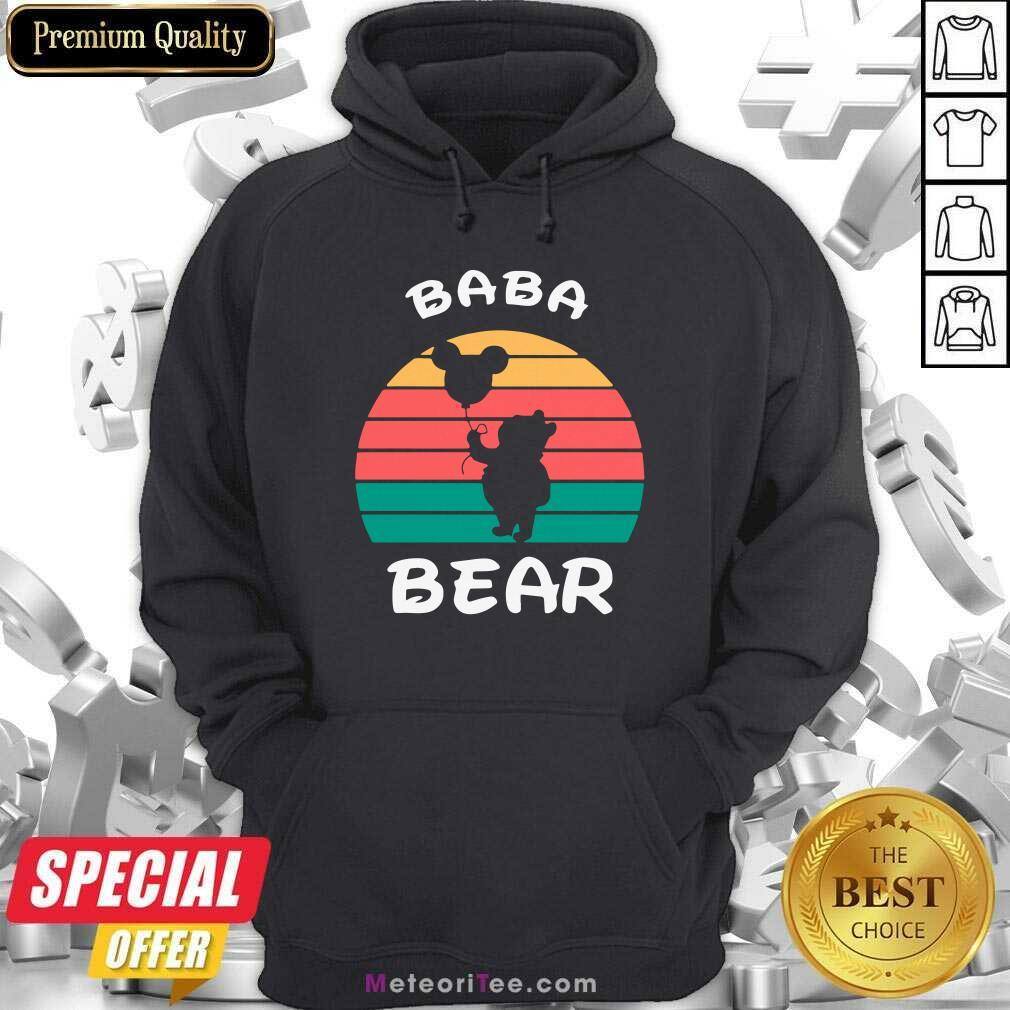 Baba Bear Disney Vintage Retro Hoodie - Design By Meteoritee.com