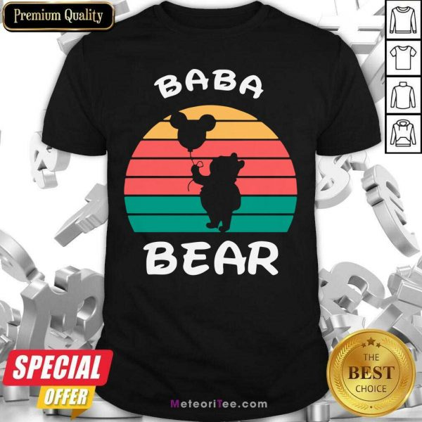 Baba Bear Disney Vintage Retro Shirt - Design By Meteoritee.com