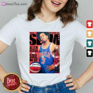 Old School Issue Slam Allen Iverson Soul On Ice V-neck - Design By Meteoritee.com