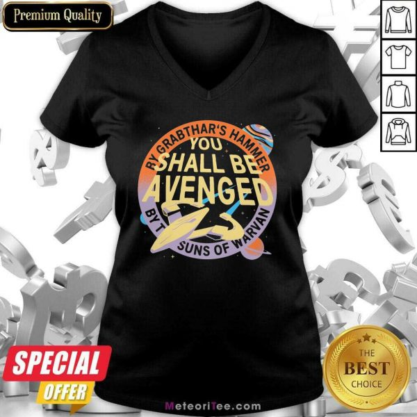 By Grabthar's Hammer You Shall Be Avenged V-neck - Design By Meteoritee.com