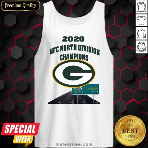 Green Bay Packers 2020 Nfc North Division Champions Tampa Tank Top - Design By Meteoritee.com