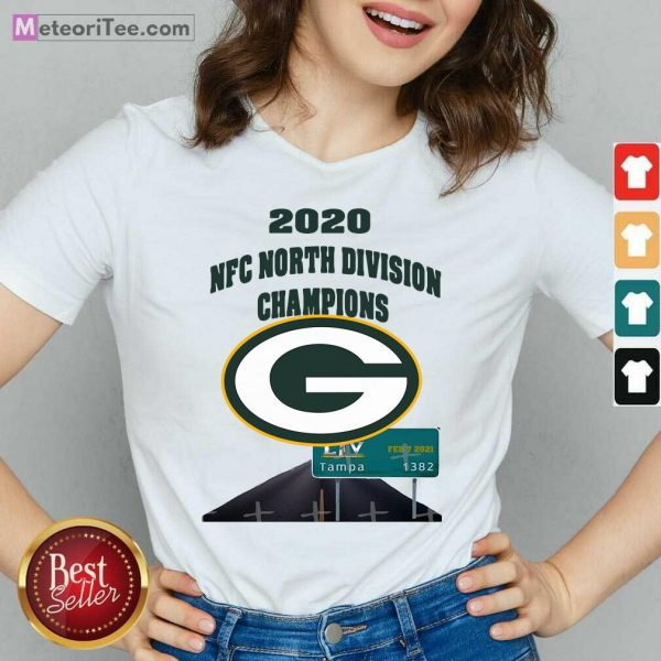 Green Bay Packers 2020 Nfc North Division Champions Tampa V-neck - Design By Meteoritee.com