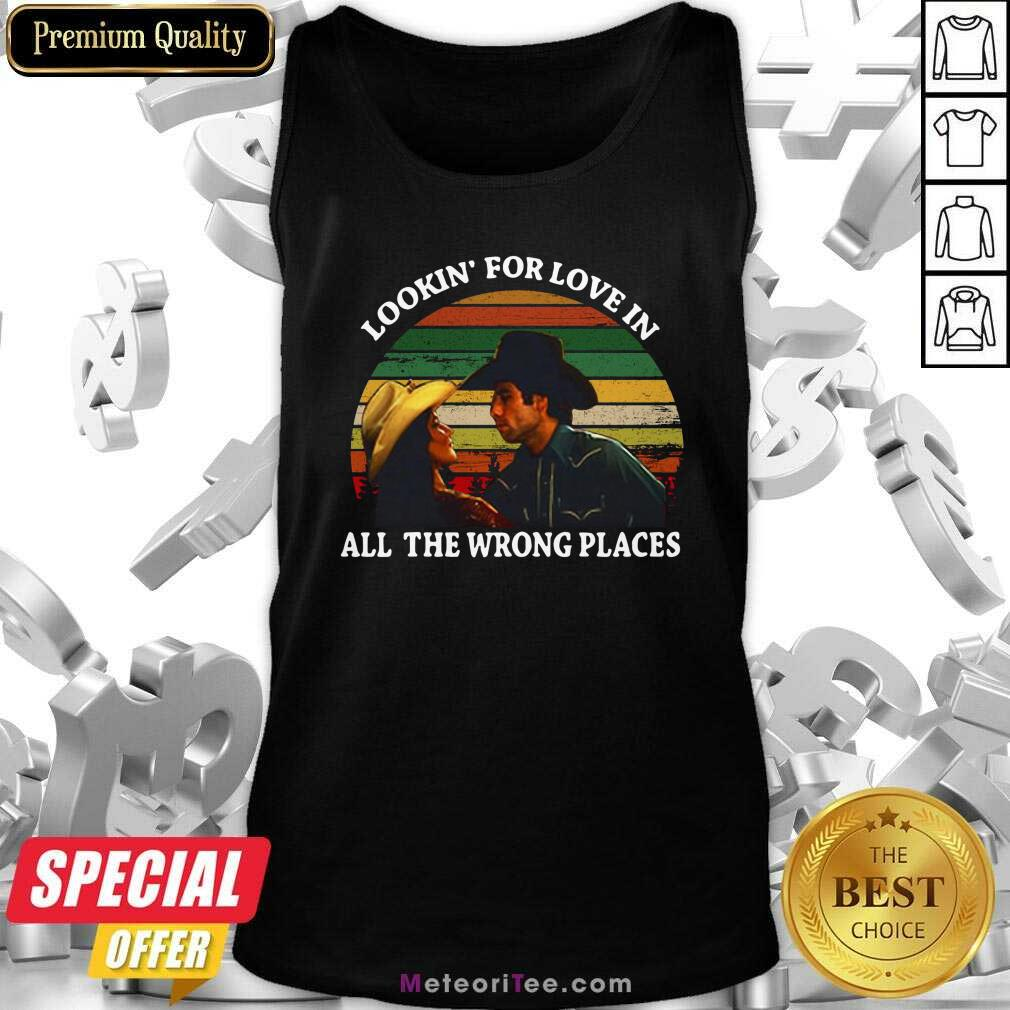 Looking For Love In All The Wrong Places Music Top Vintage Tank Top - Design By Meteoritee.com