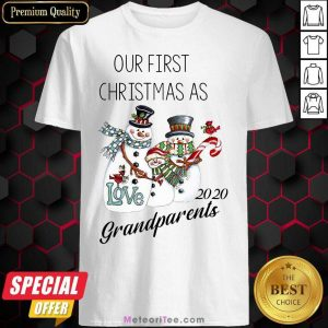Snowman Our First Christmas Love 2020 Grandparents Shirt - Design By Meteoritee.com