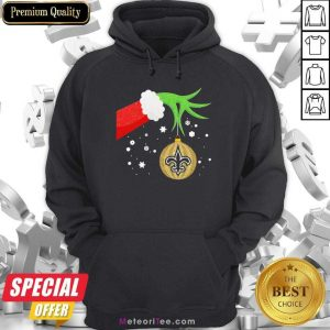 The Grinch Christmas Decoration New Orleans Saints NFL Hoodie - Design By Meteoritee.com
