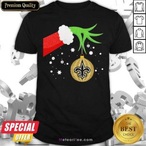 The Grinch Christmas Decoration New Orleans Saints NFL Shirt - Design By Meteoritee.com